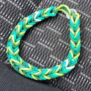 Aquamarine colored bracelet